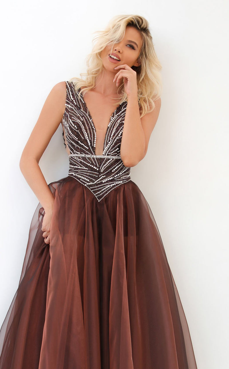 Tarik Ediz 93939 Dress Brown