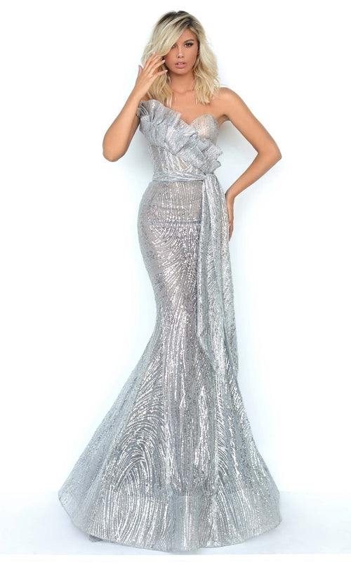 Tarik Ediz 93941 Dress Grey