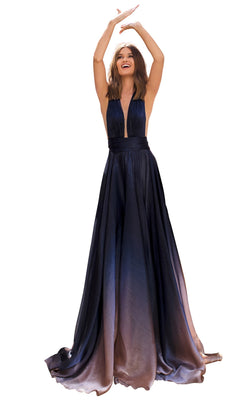 Tarik Ediz 93944 Dress Navy