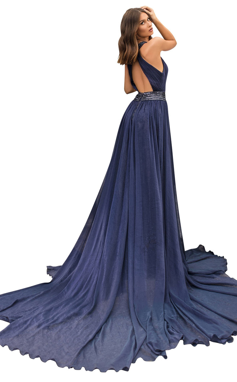 Tarik Ediz 93947 Dress Navy