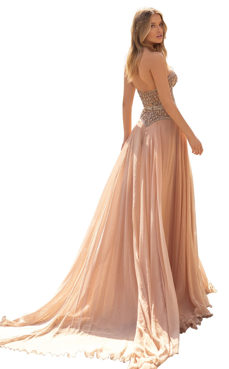 Tarik Ediz 93948 Dress Nude