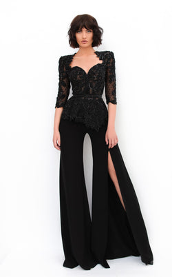 Tarik Ediz 93950 Jumpsuit Black