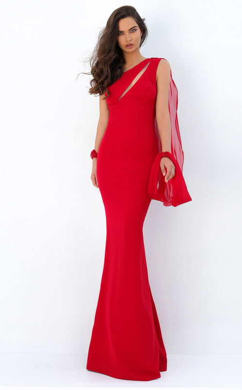 Tarik Ediz 93951 Dress Red