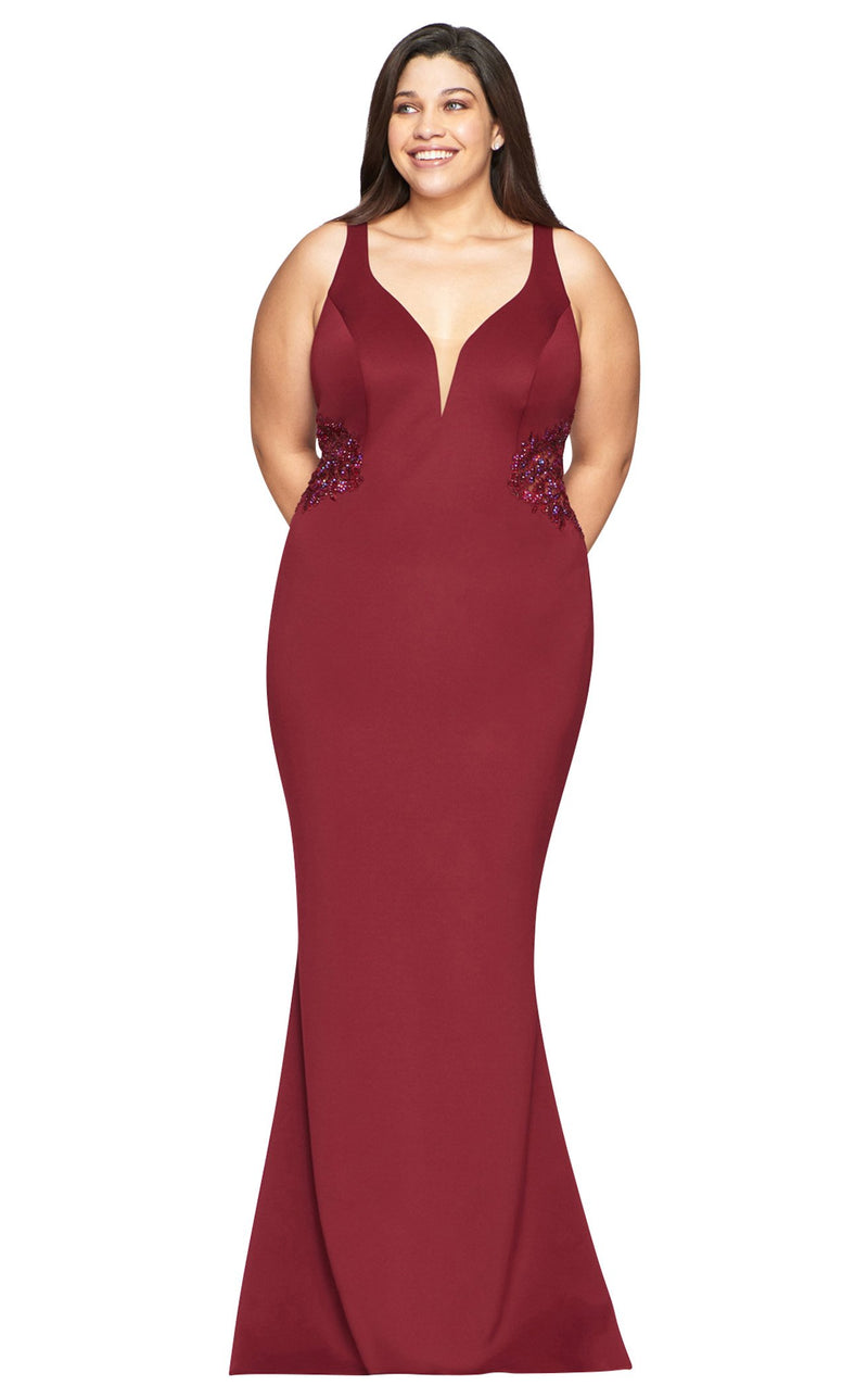 Faviana 9492 Dress Wine