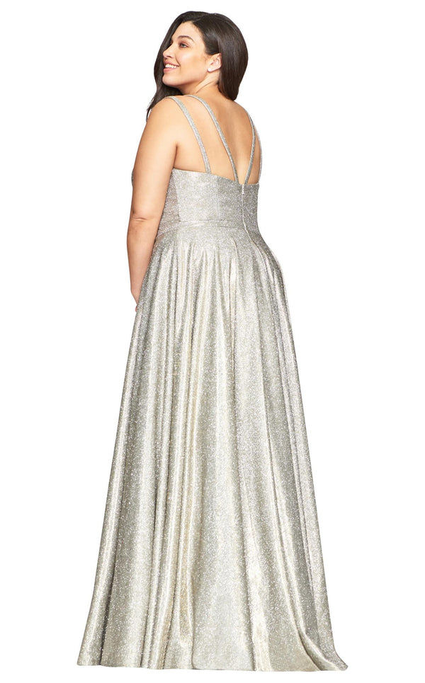 Faviana 9493 Dress Silver-Gold
