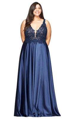 Faviana 9494 Dress Navy