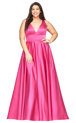 Faviana 9496 Dress Hot-Pink