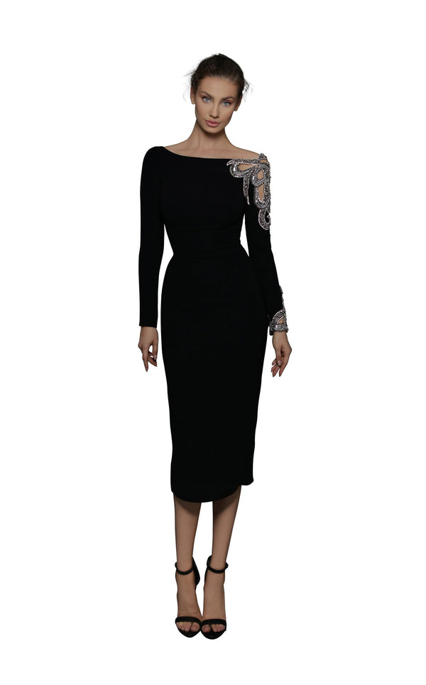 Tarik Ediz 96133 Dress Black