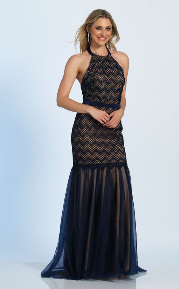 Dave and Johnny A4994 Dress Navy-Blue