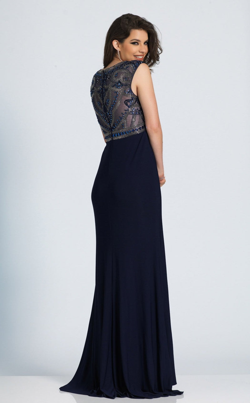 Dave and Johnny A5120 Dress Navy-Blue