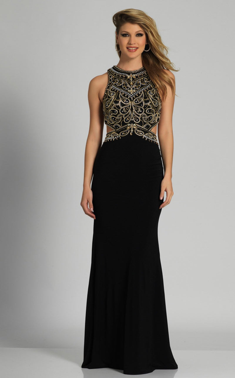 Dave and Johnny A6037 Dress Black