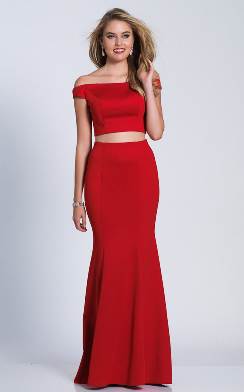 Dave and Johnny A6153 Dress Red
