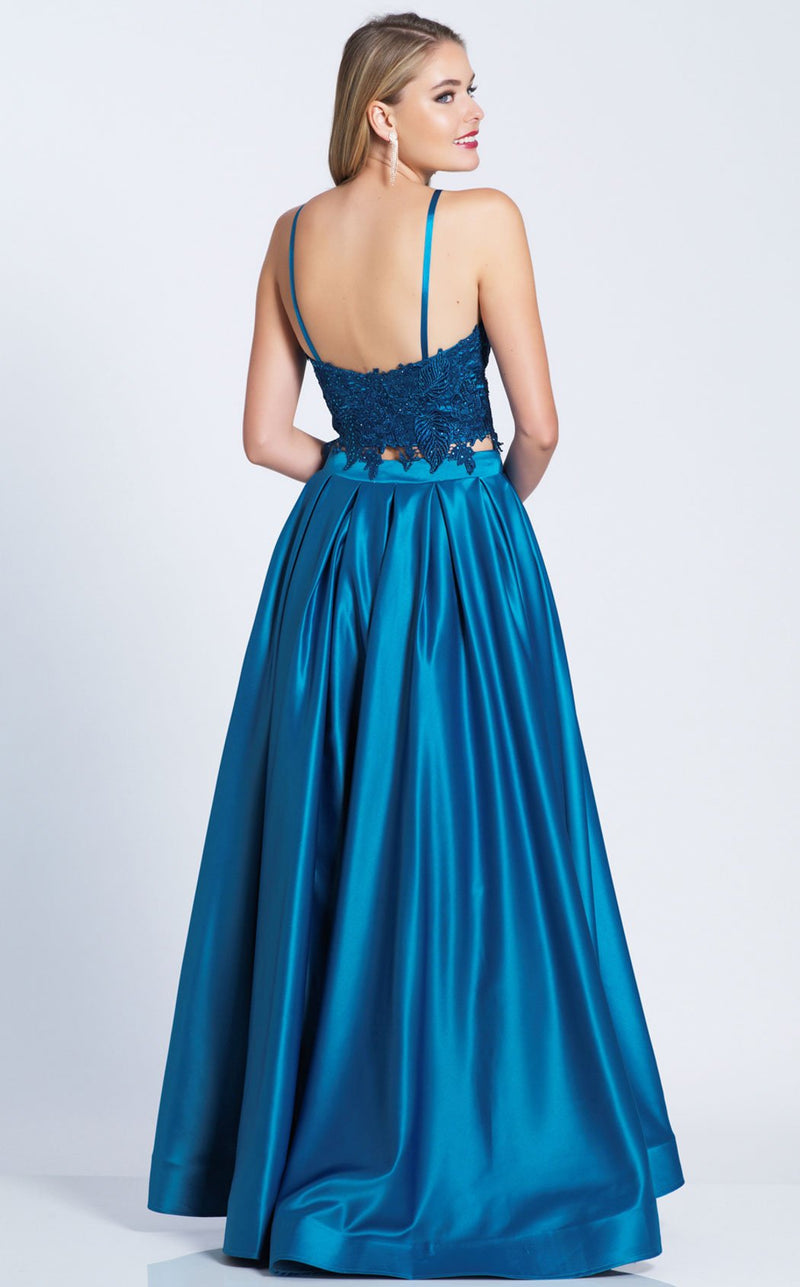 Dave and Johnny A6394 Dress Teal
