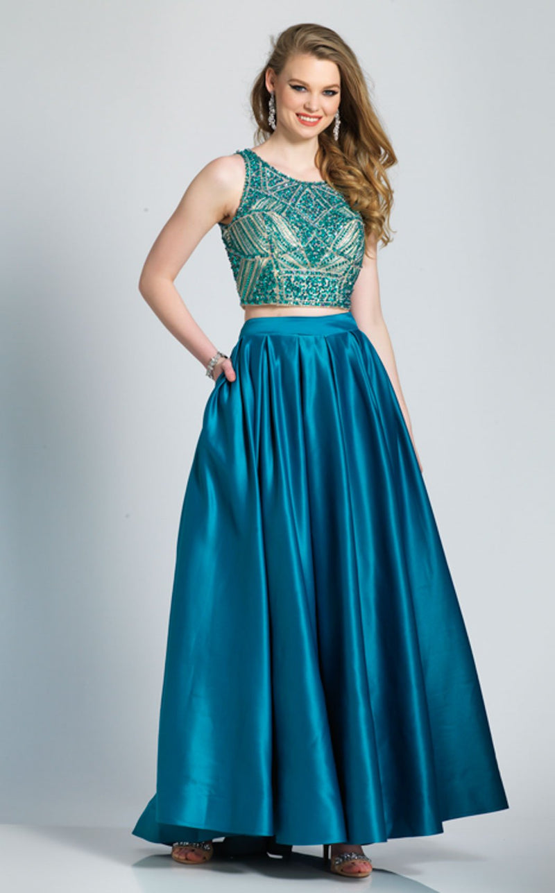 Dave and Johnny A6656 Dress Teal