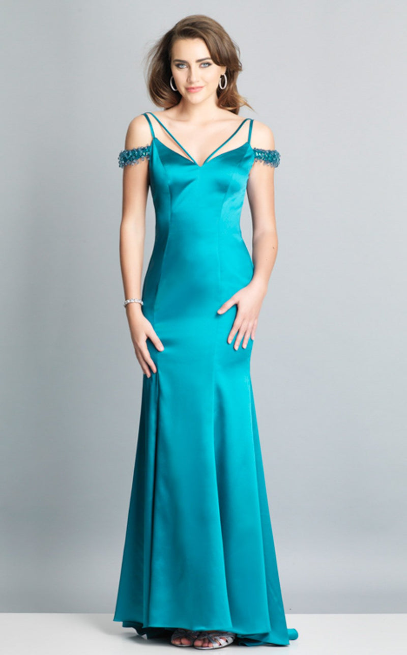Dave and Johnny A6751 Dress Teal