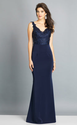 Dave and Johnny A6845 Dress Navy-Blue