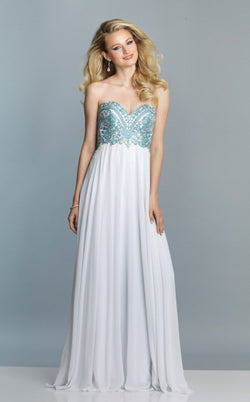 Dave and Johnny A6850 Dress Ivory-Blue
