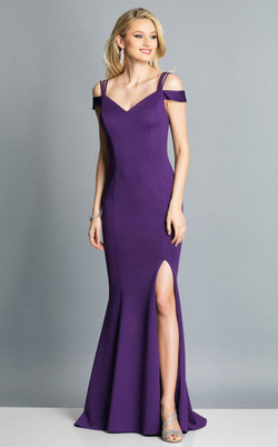 Dave and Johnny A7024 Dress Eggplant-Purple