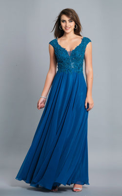 Dave and Johnny A7118 Dress Teal