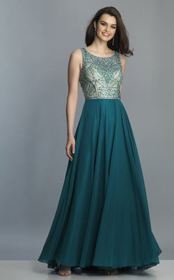 Dave and Johnny A7146 Dress Teal
