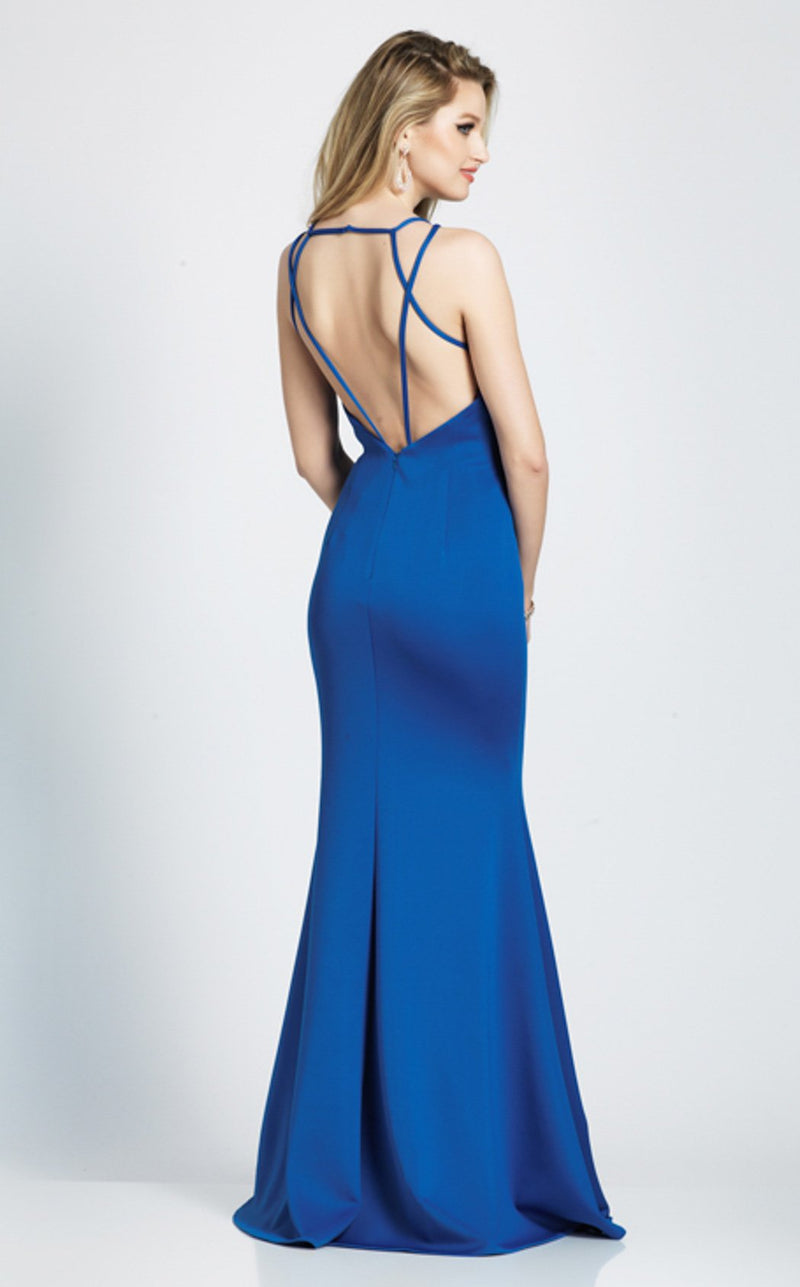 Dave and Johnny A7157 Dress Saphire-Blue