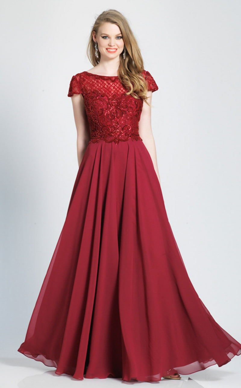 Dave and Johnny A7166 Dress Raspberry