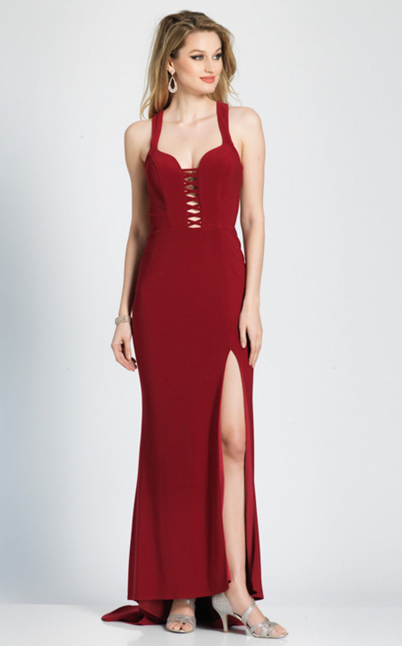 Dave and Johnny A7177 Dress Burgundy