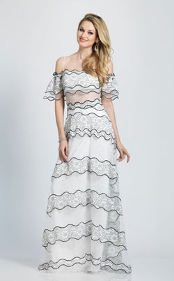 Dave and Johnny A7185 Dress Ivory