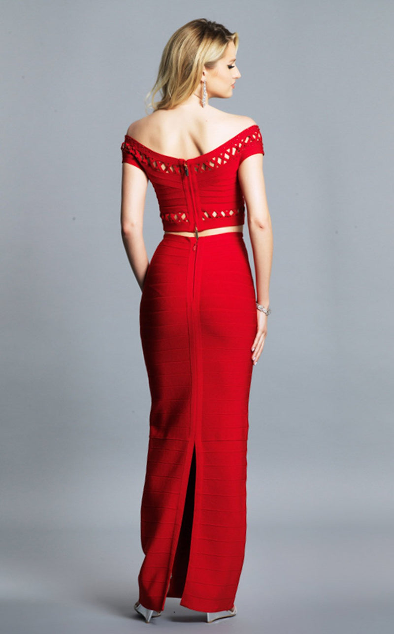 Dave and Johnny A7220 Dress Red