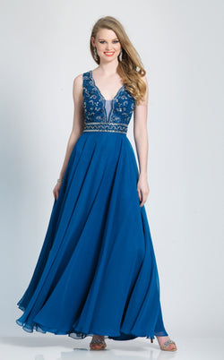 Dave and Johnny A7232 Dress Teal