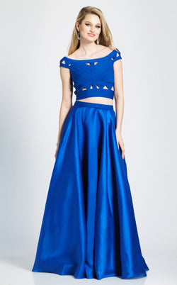 Dave and Johnny A7249 Dress Saphire-Blue