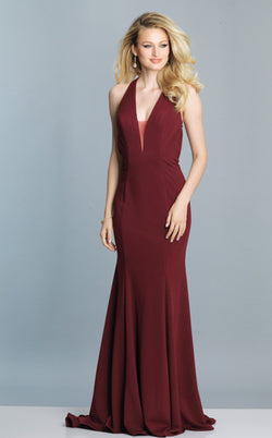 Dave and Johnny A7285 Dress Burgundy