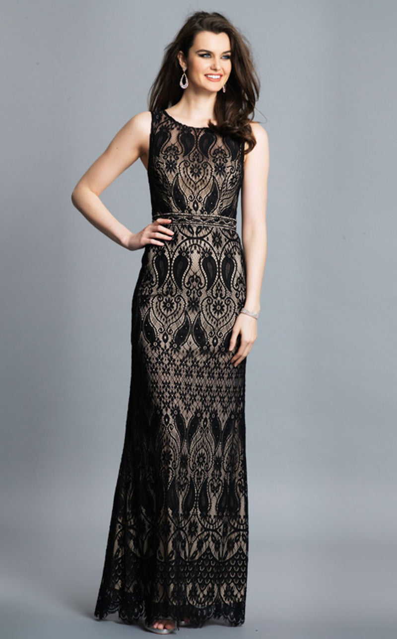 Dave and Johnny A7304 Dress Black-Nude