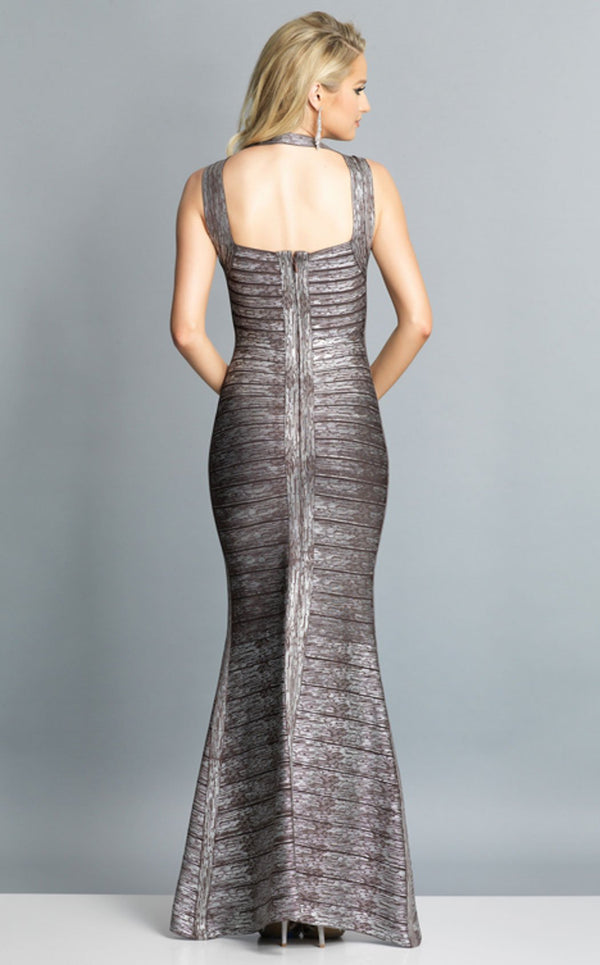 Dave and Johnny A7383 Dress Gunmetal-Silver
