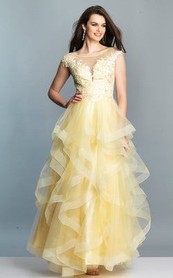 Dave and Johnny A7455 Dress Light-Yellow