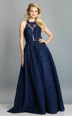 Dave and Johnny A7565 Dress Navy-Blue