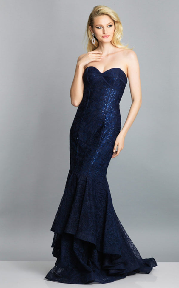 Dave and Johnny A7594 Dress Navy-Blue
