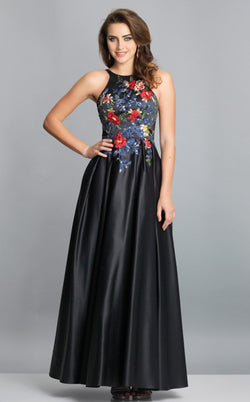 Dave and Johnny A7616 Dress Black