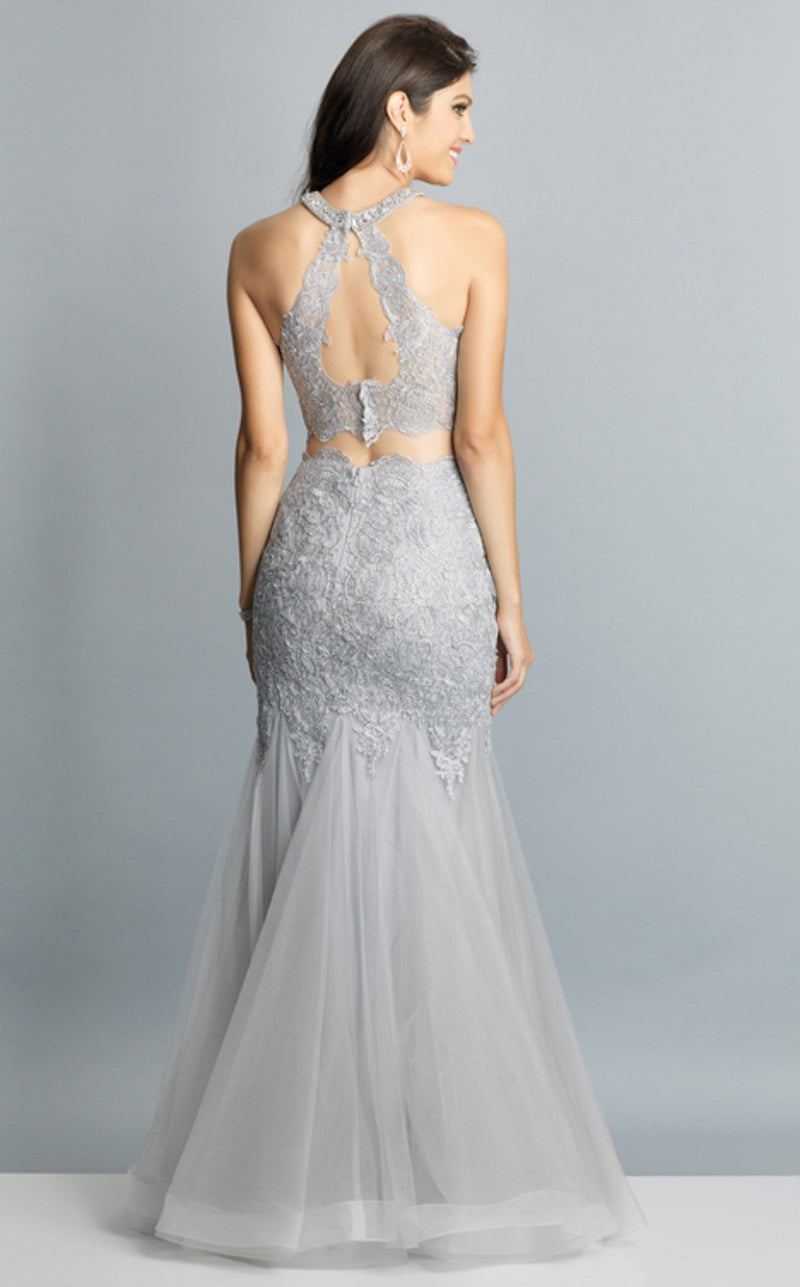 Dave and Johnny A7642 Dress Silver