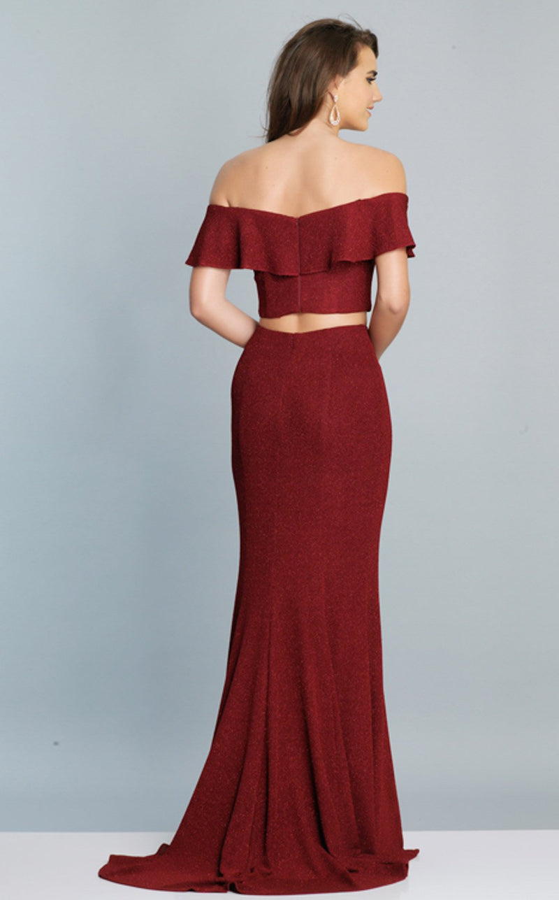 Dave and Johnny A7709 Dress Burgundy