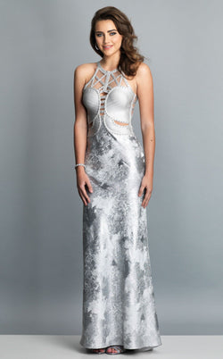 Dave and Johnny A7791 Dress Silver
