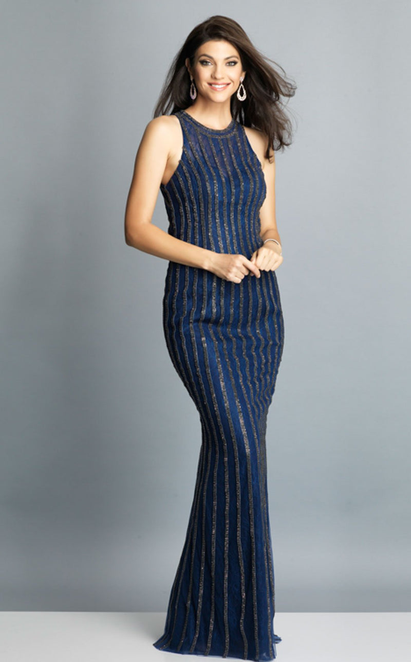 Dave and Johnny A7809 Dress Navy-Blue