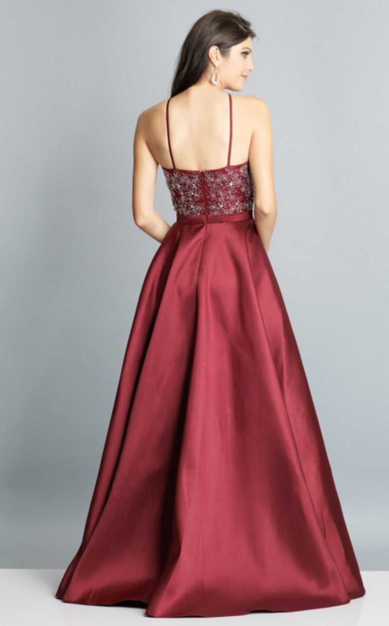Dave and Johnny A7944 Dress Burgundy