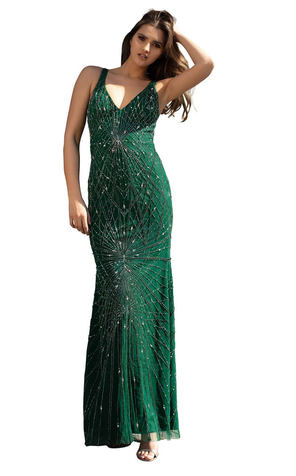 Chic and Holland AN1416 Dress Emerald