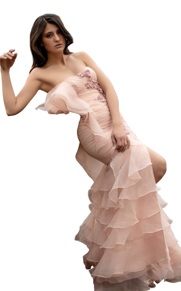 Chic and Holland AN3098 Dress Light-Pink