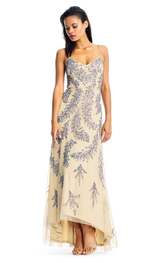 Formal High Low Shimmering Slip Dress by Aidan Mattox MD1E202204 ...