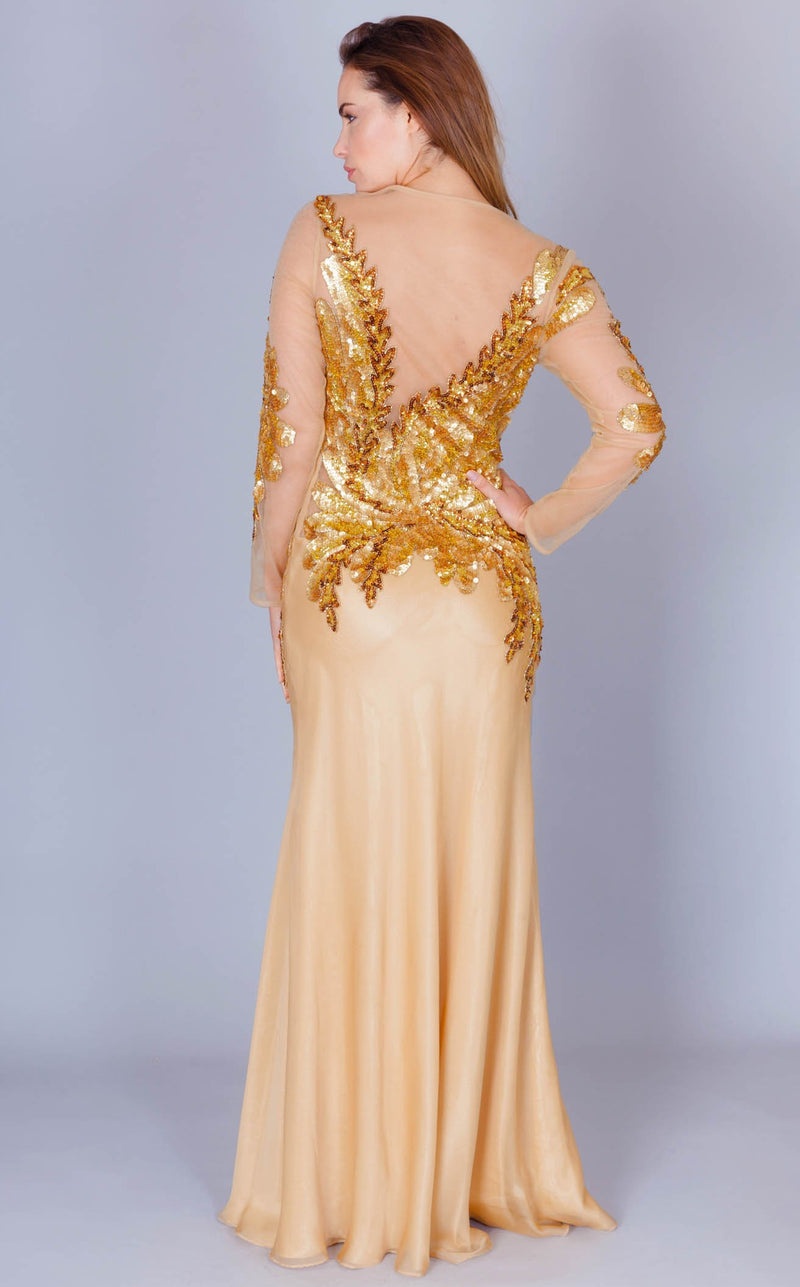Faust CA647 Dress Gold