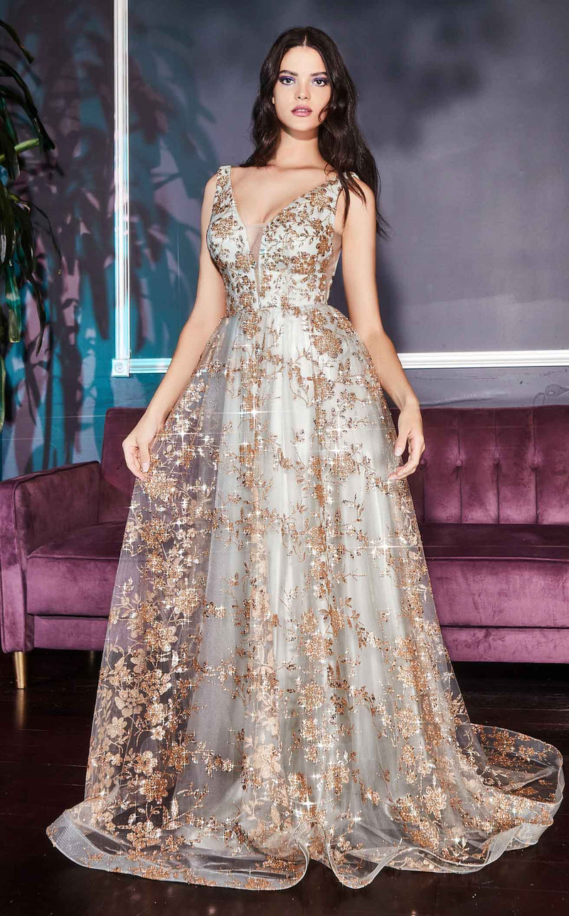 Cinderella Divine CB068 Dress Gold-Sage