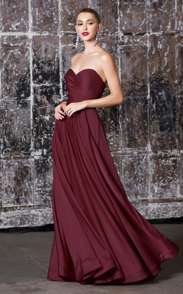 Cinderella Divine CD0165 Dress Burgundy