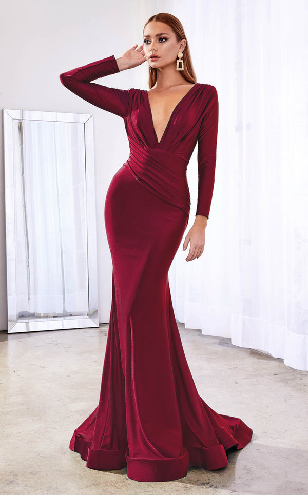 Cinderella Divine CD0168 Dress Burgundy